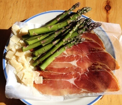 asperge et proscuitto bbq ingredients tp
