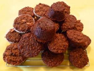 muffin au son, pommes et noix
