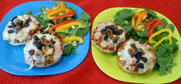 bagel tomate poireau - assiette