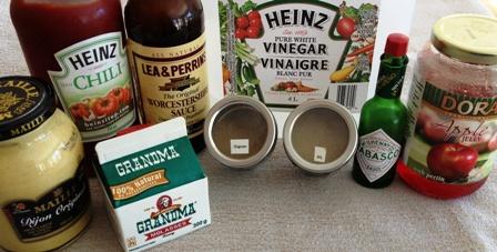 Ingredients - cotes levees