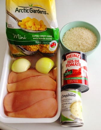 Poulet mexicaine - Ingredients