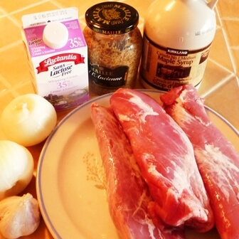 ingredient medaillon porc moutarde erable tp