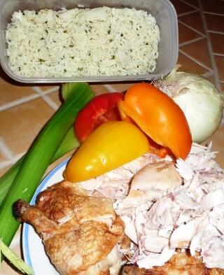 ingredients - poulet au riz tp